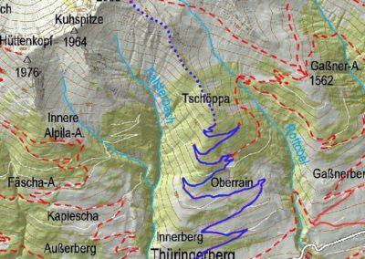 Karte Thüringerberg
